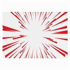Line Red Sun Arrow Large Glasses Cloth (2 Side)