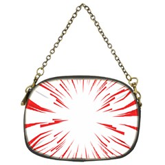 Line Red Sun Arrow Chain Purses (two Sides)