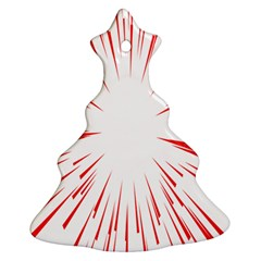 Line Red Sun Arrow Ornament (christmas Tree)