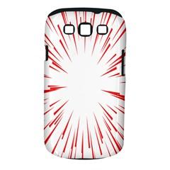 Line Red Sun Arrow Samsung Galaxy S Iii Classic Hardshell Case (pc+silicone)