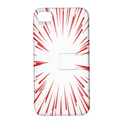 Line Red Sun Arrow Apple Iphone 4/4s Hardshell Case With Stand