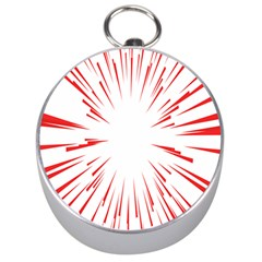 Line Red Sun Arrow Silver Compasses