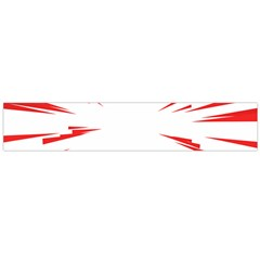 Line Red Sun Arrow Flano Scarf (large)