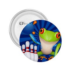 Tree Frog Bowling 2 25  Buttons
