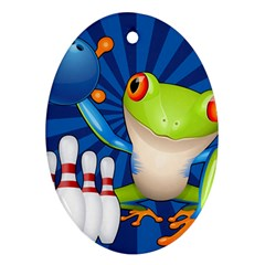 Tree Frog Bowling Ornament (oval)