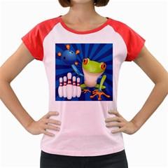 Tree Frog Bowling Women s Cap Sleeve T Shirt