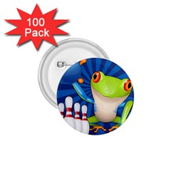 Tree Frog Bowling 1 75  Buttons (100 Pack)