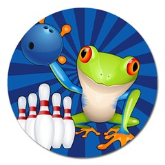 Tree Frog Bowling Magnet 5  (round)