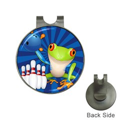 Tree Frog Bowling Hat Clips With Golf Markers