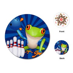 Tree Frog Bowling Playing Cards (round)