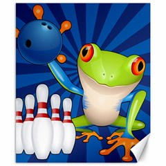 Tree Frog Bowling Canvas 8  X 10