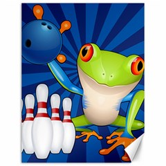 Tree Frog Bowling Canvas 12  X 16
