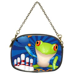 Tree Frog Bowling Chain Purses (one Side)