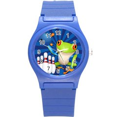 Tree Frog Bowling Round Plastic Sport Watch (s)