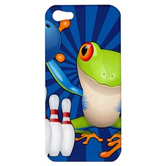 Tree Frog Bowling Apple Iphone 5 Hardshell Case