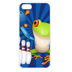 Tree Frog Bowling Apple Iphone 5 Seamless Case (white)