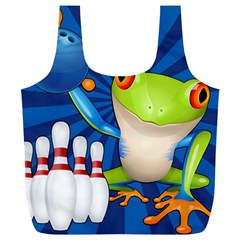 Tree Frog Bowling Full Print Recycle Bags (l)