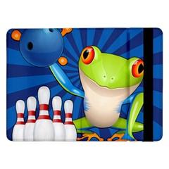 Tree Frog Bowling Samsung Galaxy Tab Pro 12 2  Flip Case