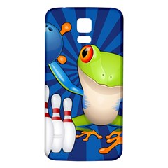 Tree Frog Bowling Samsung Galaxy S5 Back Case (white)