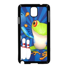 Tree Frog Bowling Samsung Galaxy Note 3 Neo Hardshell Case (black)
