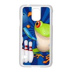 Tree Frog Bowling Samsung Galaxy S5 Case (white)
