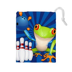 Tree Frog Bowling Drawstring Pouches (large)