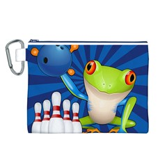 Tree Frog Bowling Canvas Cosmetic Bag (l)