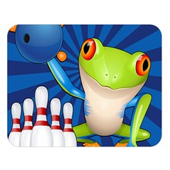 Tree Frog Bowling Double Sided Flano Blanket (large)