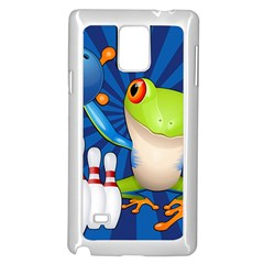 Tree Frog Bowling Samsung Galaxy Note 4 Case (white)