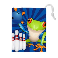 Tree Frog Bowling Drawstring Pouches (extra Large)