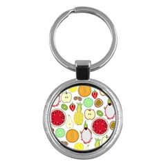 Mango Fruit Pieces Watermelon Dragon Passion Fruit Apple Strawberry Pineapple Melon Key Chains (round)