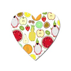 Mango Fruit Pieces Watermelon Dragon Passion Fruit Apple Strawberry Pineapple Melon Heart Magnet