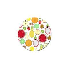 Mango Fruit Pieces Watermelon Dragon Passion Fruit Apple Strawberry Pineapple Melon Golf Ball Marker (10 Pack)