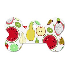 Mango Fruit Pieces Watermelon Dragon Passion Fruit Apple Strawberry Pineapple Melon Dog Tag Bone (two Sides)