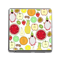 Mango Fruit Pieces Watermelon Dragon Passion Fruit Apple Strawberry Pineapple Melon Memory Card Reader (square)