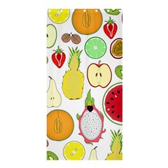 Mango Fruit Pieces Watermelon Dragon Passion Fruit Apple Strawberry Pineapple Melon Shower Curtain 36  X 72  (stall)