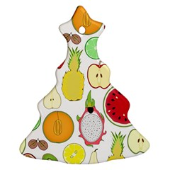 Mango Fruit Pieces Watermelon Dragon Passion Fruit Apple Strawberry Pineapple Melon Christmas Tree Ornament (two Sides)