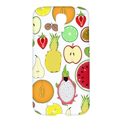 Mango Fruit Pieces Watermelon Dragon Passion Fruit Apple Strawberry Pineapple Melon Samsung Galaxy S4 I9500/i9505 Hardshell Case