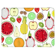 Mango Fruit Pieces Watermelon Dragon Passion Fruit Apple Strawberry Pineapple Melon Samsung Galaxy Tab 7  P1000 Flip Case