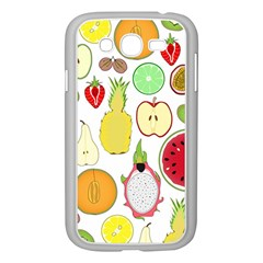Mango Fruit Pieces Watermelon Dragon Passion Fruit Apple Strawberry Pineapple Melon Samsung Galaxy Grand Duos I9082 Case (white)