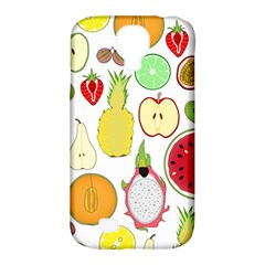 Mango Fruit Pieces Watermelon Dragon Passion Fruit Apple Strawberry Pineapple Melon Samsung Galaxy S4 Classic Hardshell Case (pc+silicone)
