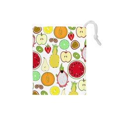 Mango Fruit Pieces Watermelon Dragon Passion Fruit Apple Strawberry Pineapple Melon Drawstring Pouches (small)