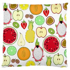 Mango Fruit Pieces Watermelon Dragon Passion Fruit Apple Strawberry Pineapple Melon Standard Flano Cushion Case (two Sides)