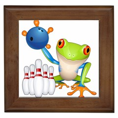 Tree Frog Bowler Framed Tiles