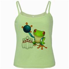 Tree Frog Bowler Green Spaghetti Tank