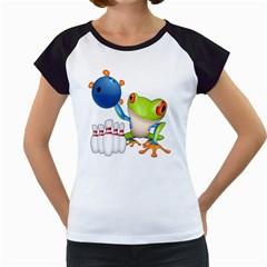 Tree Frog Bowler Women s Cap Sleeve T