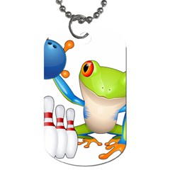 Tree Frog Bowler Dog Tag (two Sides)