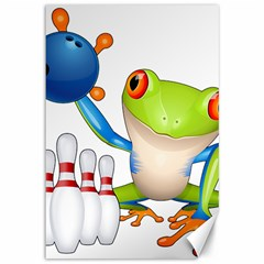 Tree Frog Bowler Canvas 12  X 18