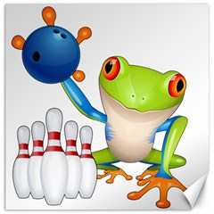 Tree Frog Bowler Canvas 16  X 16