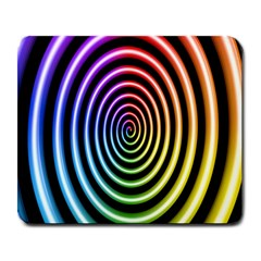Hypnotic Circle Rainbow Large Mousepads